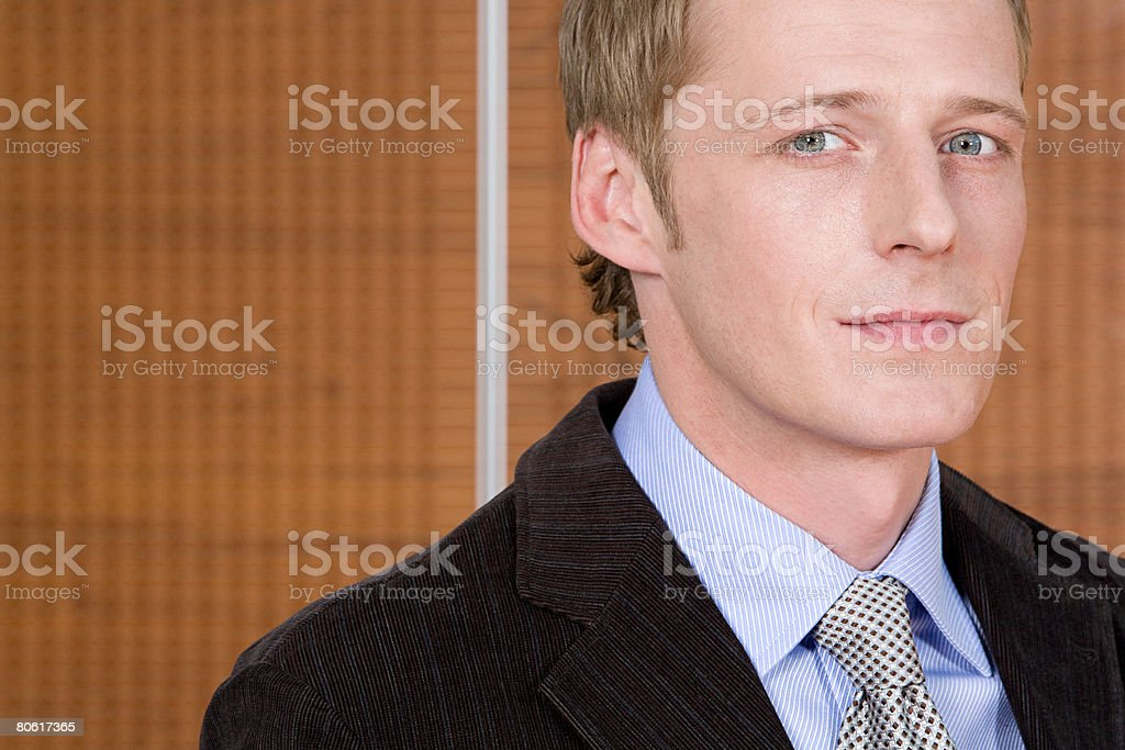 Portrait of a businessman royalty-free stock photo