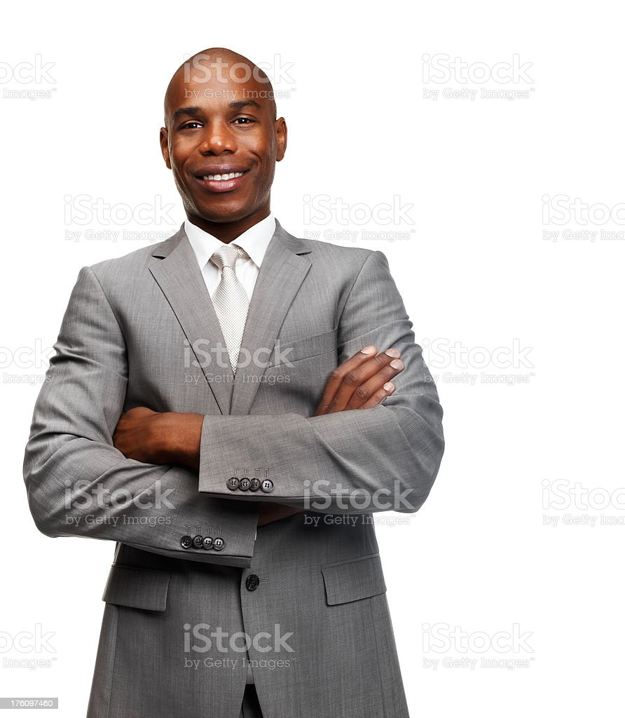 Portrait of a businessman smiling royalty-free stock photo