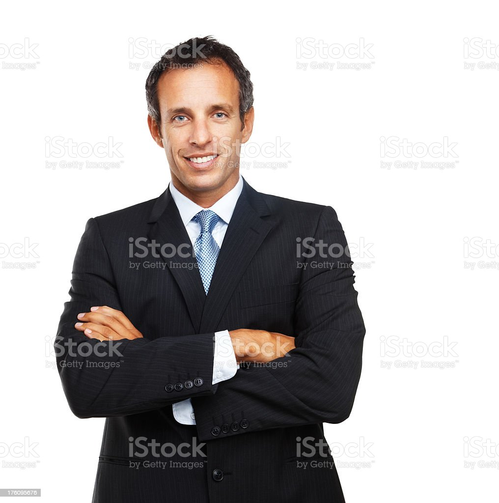 Portrait of a businessman smiling with arms crossed royalty-free stock photo