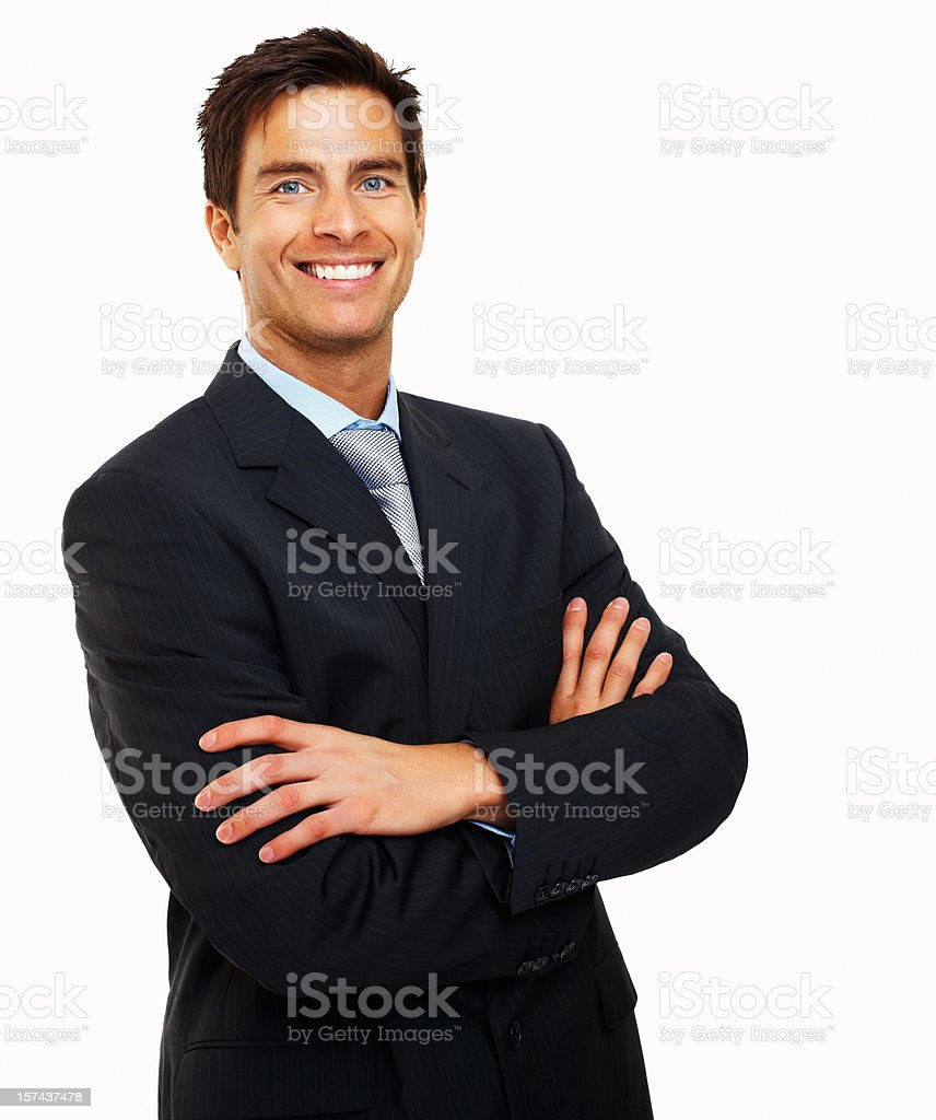 Portrait of a businessman with arms crossed royalty-free stock photo