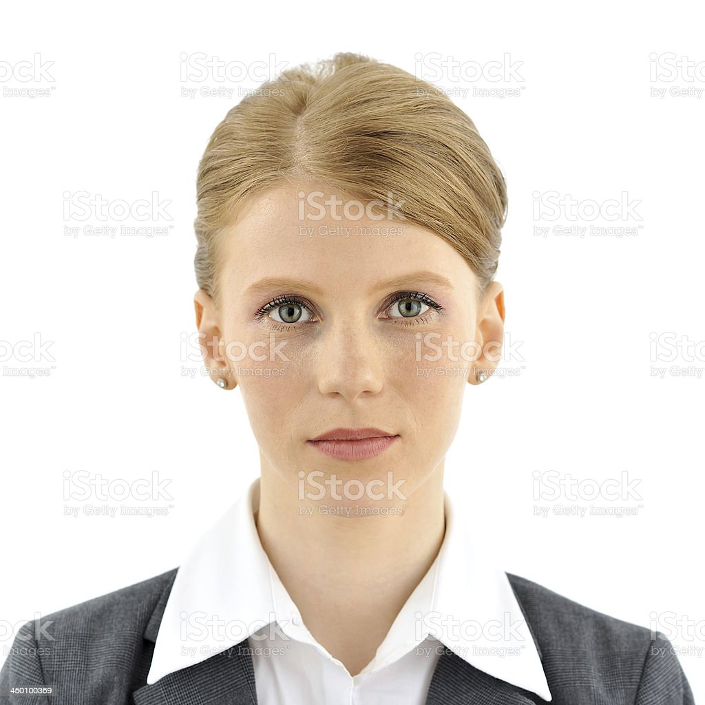Portrait of a businesswoman stock photo