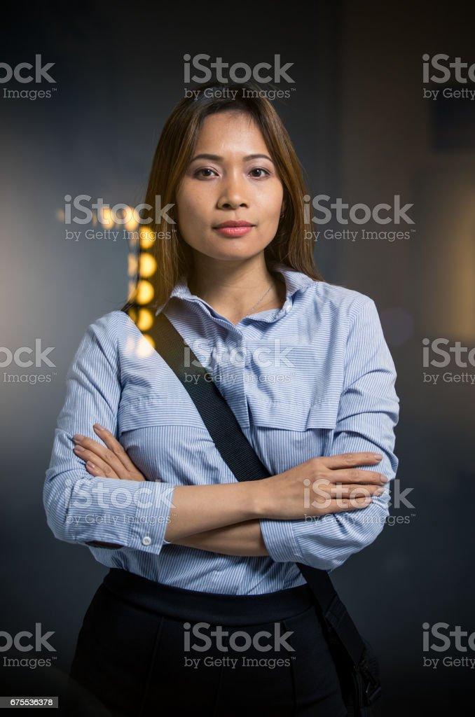 Portrait of a businesswoman photo libre de droits