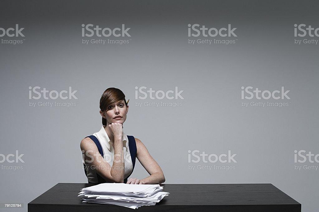 Porträt einer Geschäftsfrau Lizenzfreies stock-foto