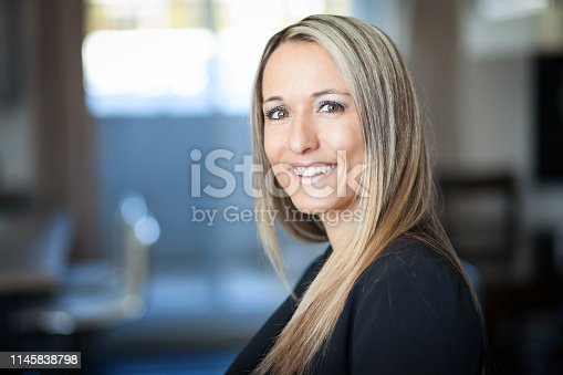 istock Portrait Of A Businesswoman Smiling At The Camera 1145838798