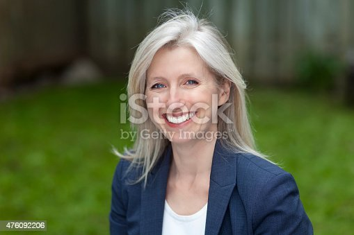 istock Portrait Of A Businesswoman Smiling At The Camera 476092206