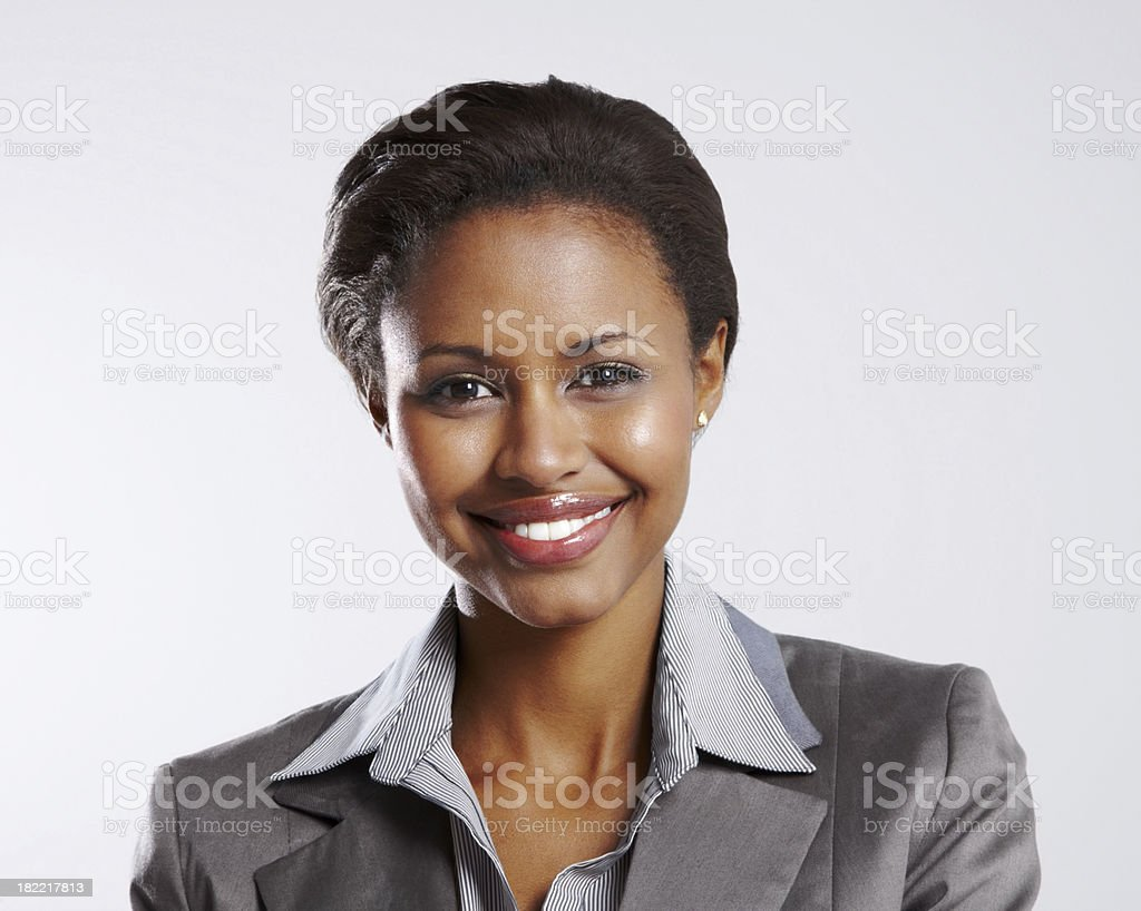 Portrait of a businesswoman smiling royalty-free stock photo