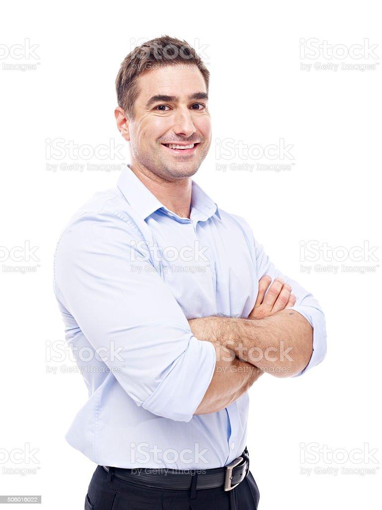 portrait of a caucasian businessman royalty-free stock photo