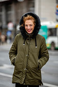 Portrait of a Caucasian woman standing outdoors in the city centre