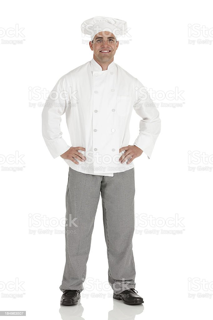 Portrait of a chef royalty-free stock photo