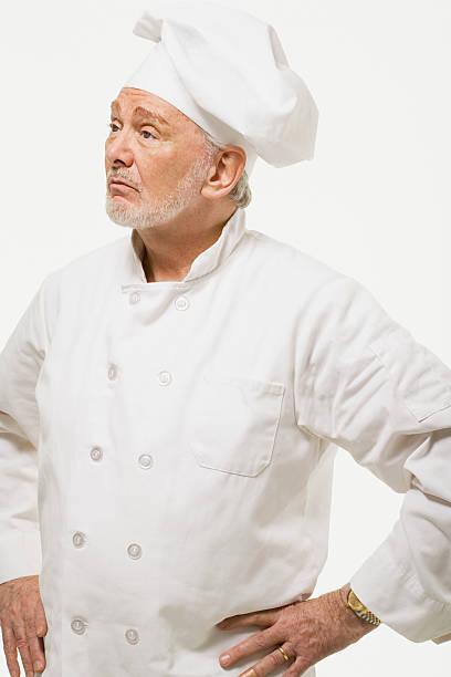 ritratto di uno chef - chef triste foto e immagini stock
