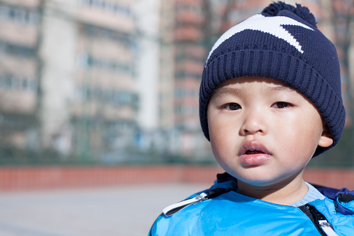 Portrait Of A Chinese Baby Boy Stock Photo - Download Image Now