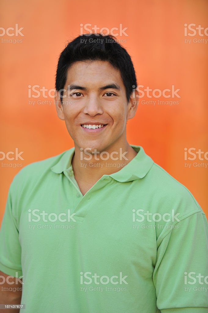 Portrait of a Chinese college student royalty-free stock photo