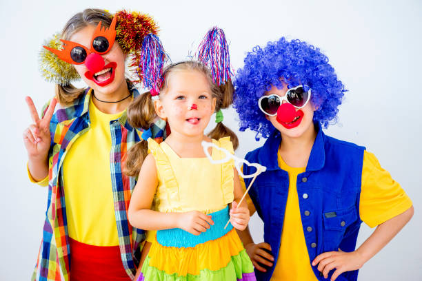 A portrait of a clown A portrait of a clown in a kid party carnival children stock pictures, royalty-free photos & images