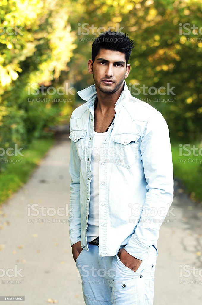 Portrait of a cofident young arab stock photo