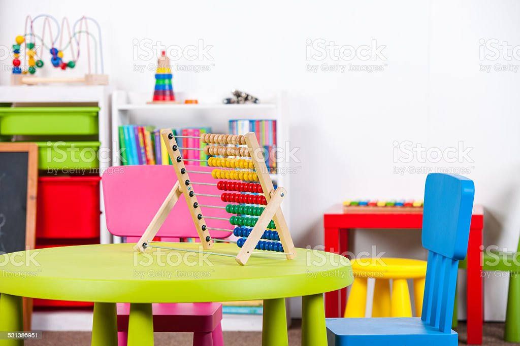 Portrait Of A Colorful Nursery/ Playroom stock photo