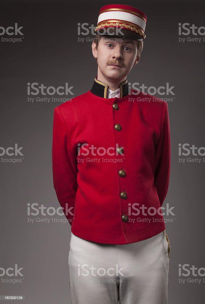 Portrait of a concierge stock photo