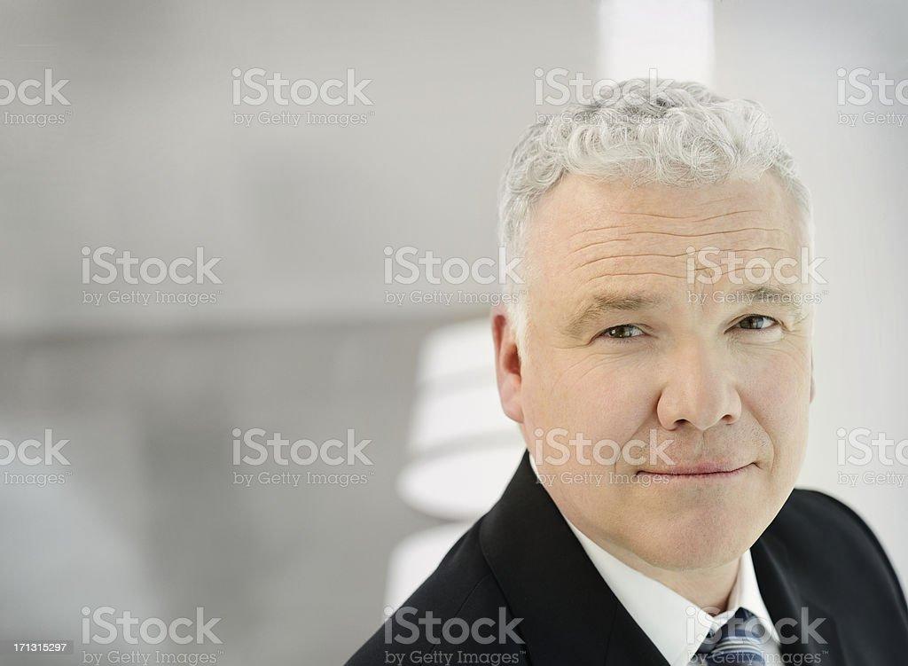 Portrait of a confident business man stock photo