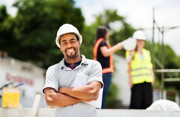 Portrait of a confident civil engineer stock photo