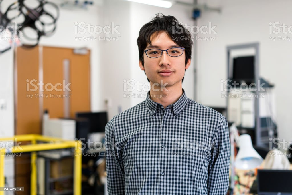 Portrait of a confident Engineering student stock photo