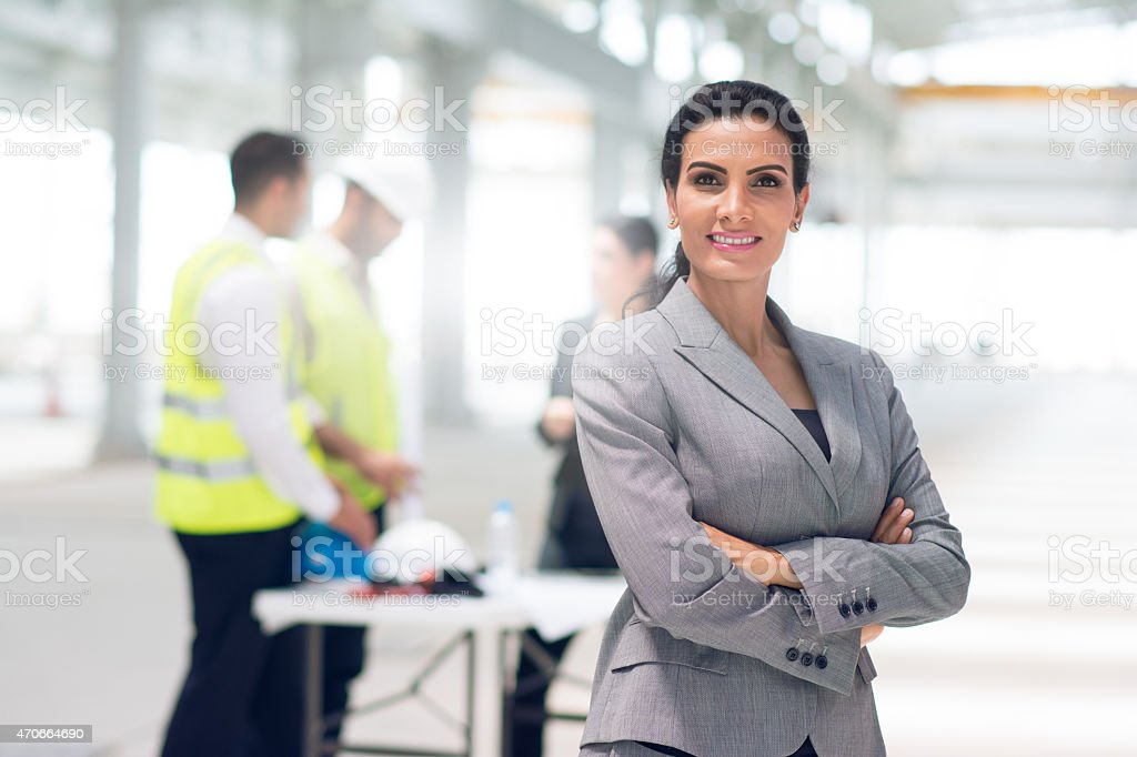 Portrait of a confident female project manager stock photo
