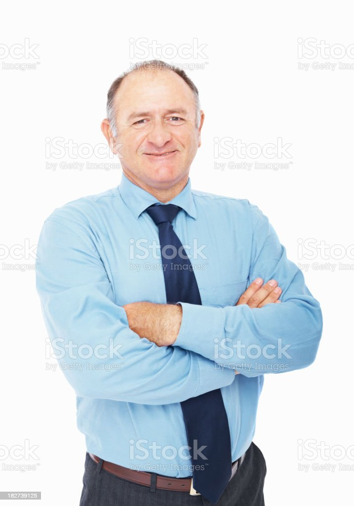 Portrait of a confident mature businessman royalty-free stock photo