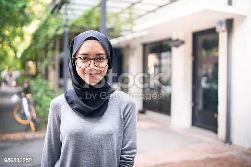 istock Portrait of a confident Muslim girl 956842252
