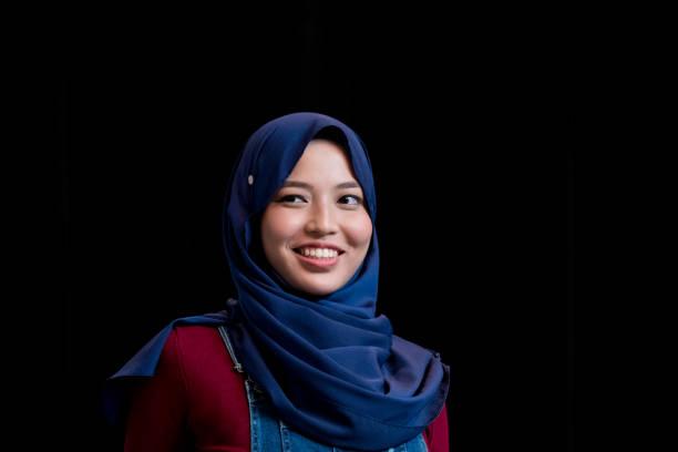 Portrait of a confident Muslim woman stock photo