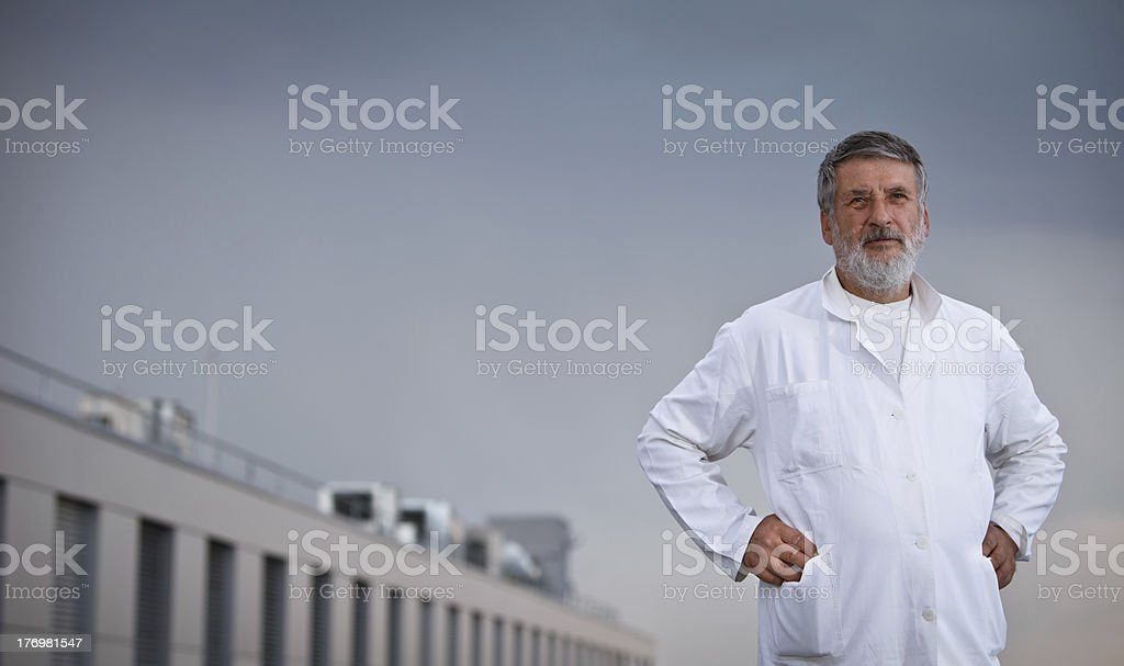 Portrait of a confident scientist/doctor royalty-free stock photo