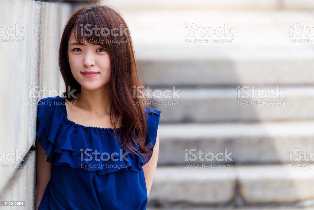 Portrait of a confident young asian woman stock photo