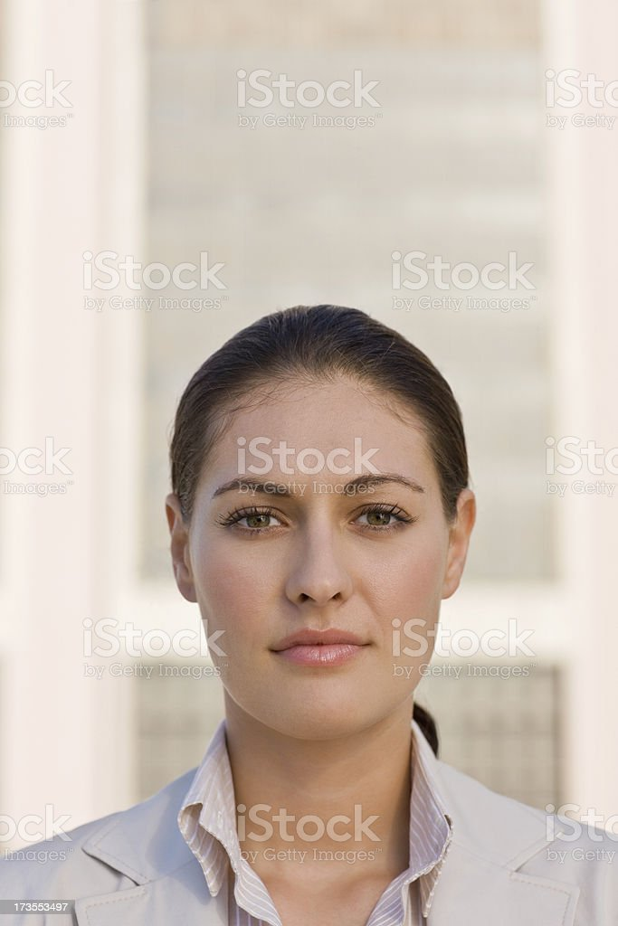 Portrait of a confident young businesswoman royalty-free stock photo