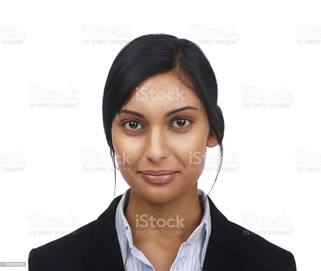 Portrait of a confident young businesswoman stock photo