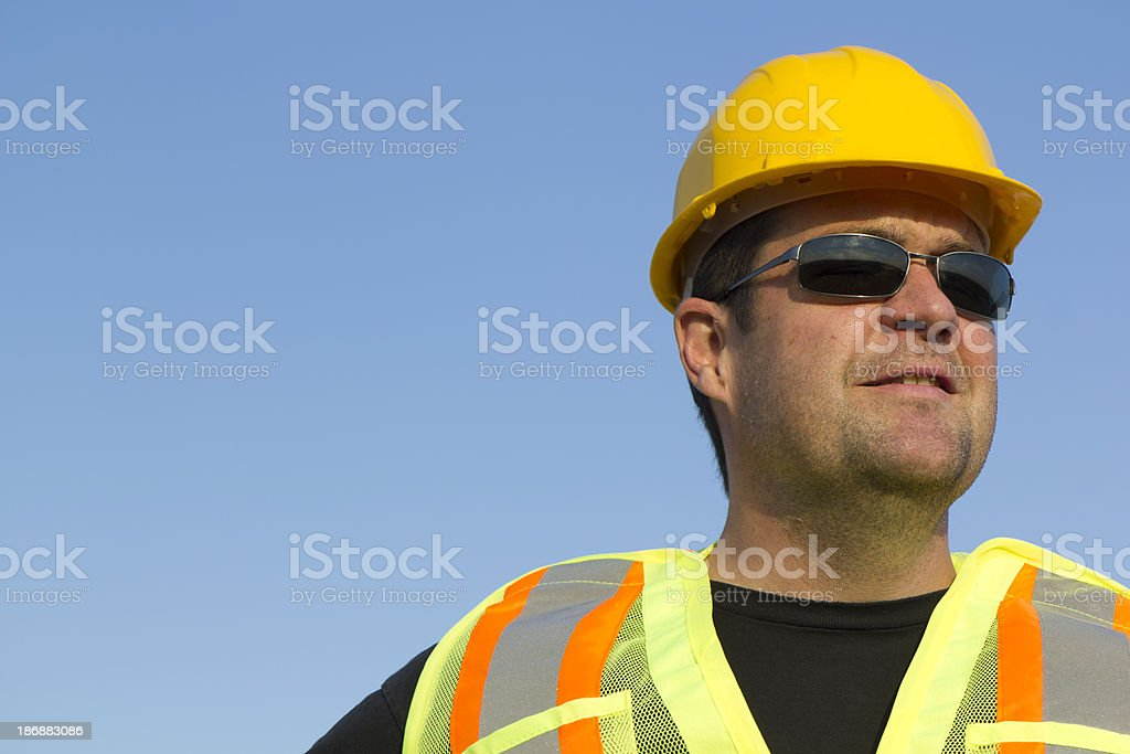 Portrait of a Construction Worker royalty-free stock photo