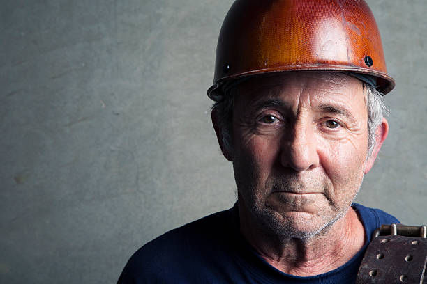 Portrait of a Construction Worker stock photo