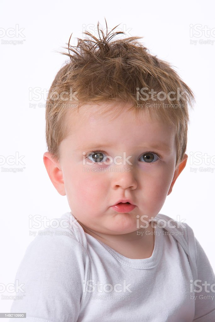 Portrait of a cool toddler stock photo