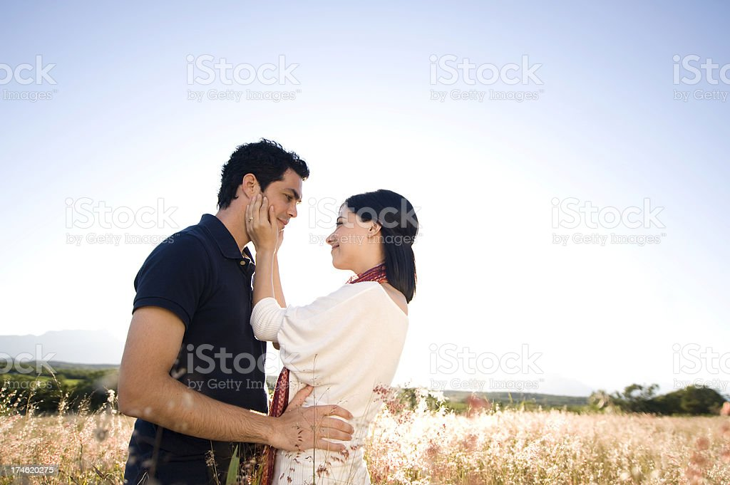Portrait of a couple in love royalty-free stock photo