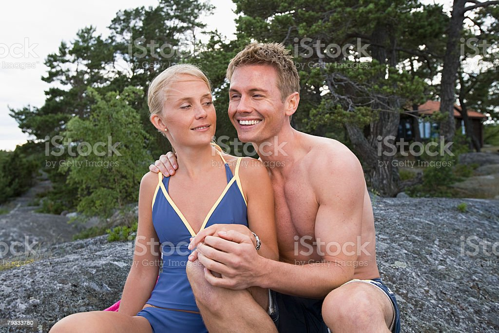 Portrait of a couple royalty-free stock photo