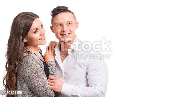 Close up millennial couple in love. Portrait of a couple planning a happy future. Tender relationship loving people. Love and relationships concept