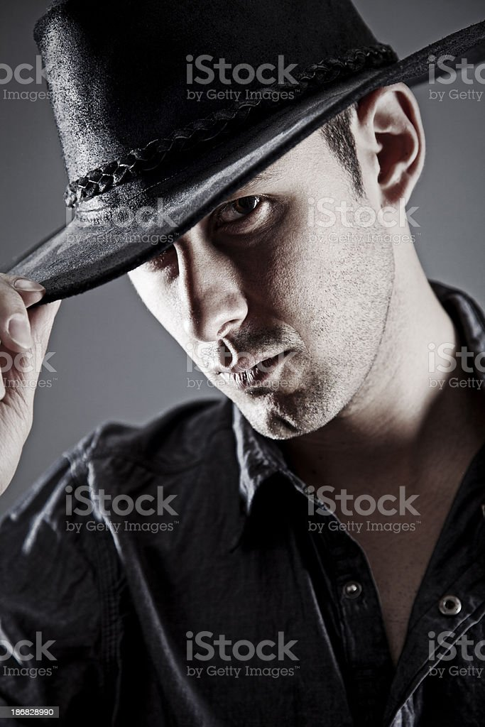 Portrait of a cowboy royalty-free stock photo