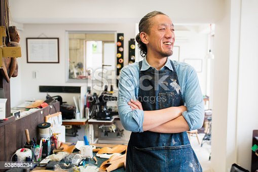 istock Portrait of a craftsman 538888294