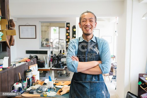 istock Portrait of a craftsman 539955814