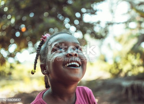 portrait of a cute little African girl