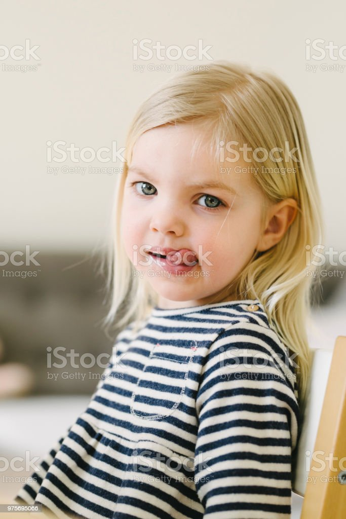 49d815fb84bf Portrait Of A Cute Nordic Little Girl Stock Photo - Download Image ...