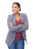 istock Portrait of a cute young woman smiling 181394066