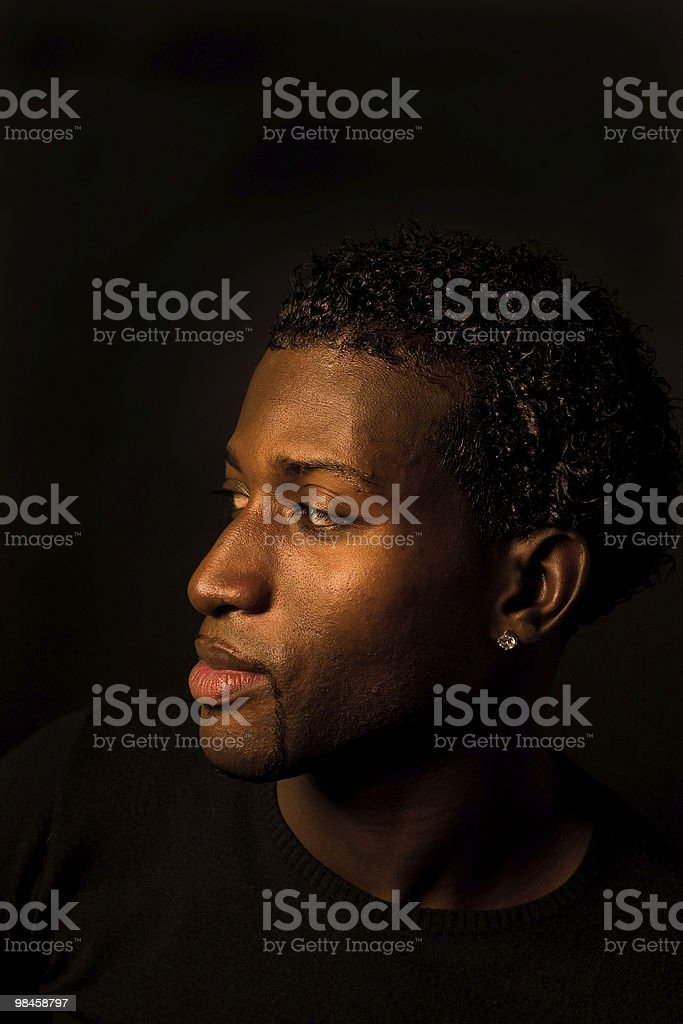 Portrait of a dark man royalty-free stock photo