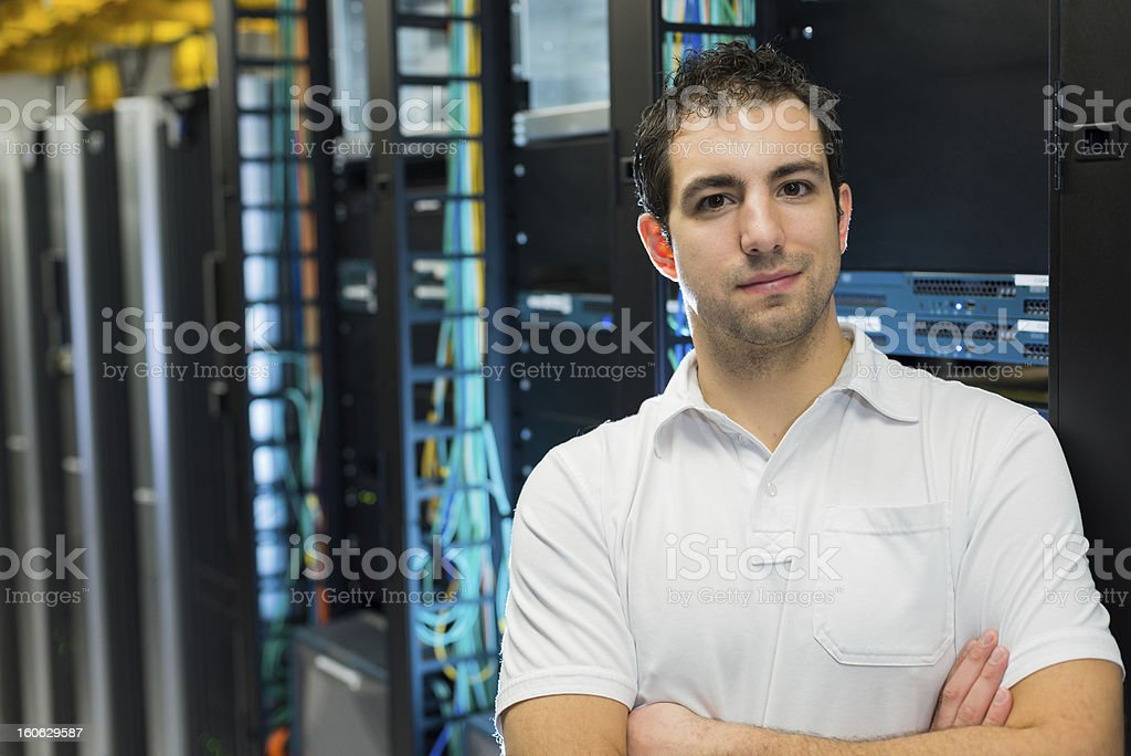 Portrait of a datacenter manager stock photo