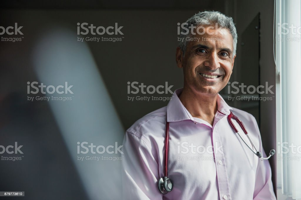 Portrait of a Doctor stock photo