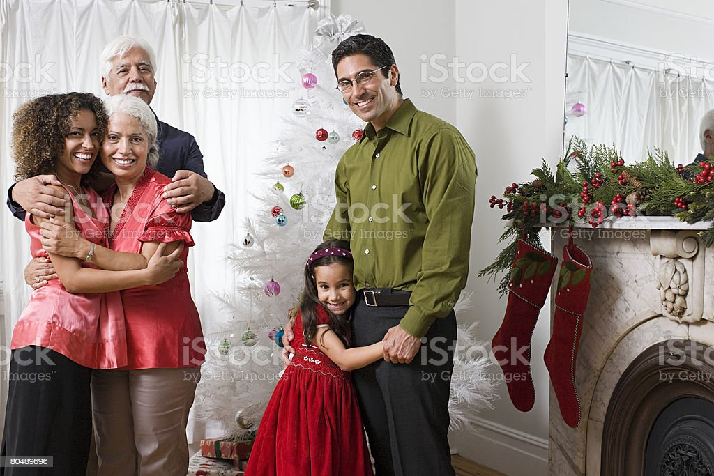 家族のポートレート、クリスマス ロイヤリティフリーストックフォト