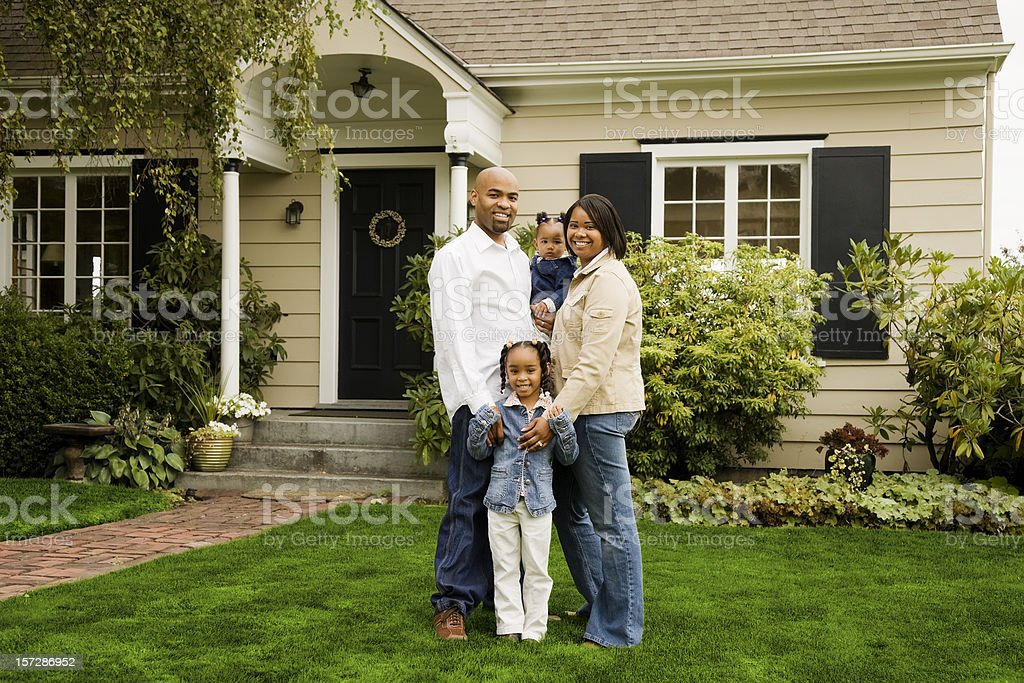 Portrait of a Family at Home royalty-free stock photo