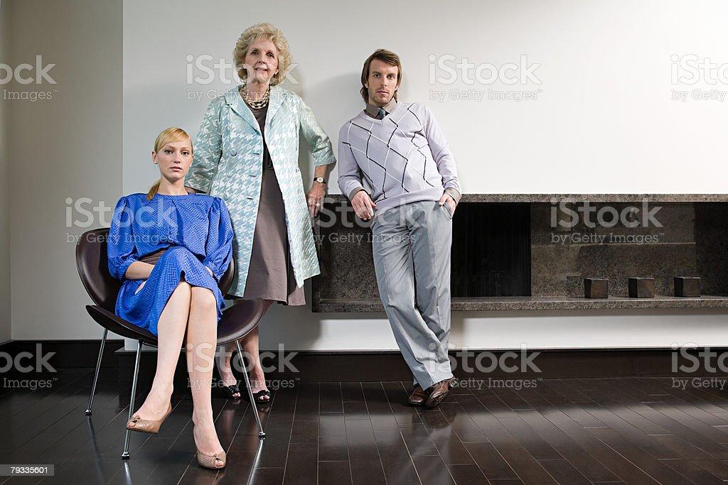 Porträt einer Familie Lizenzfreies stock-foto