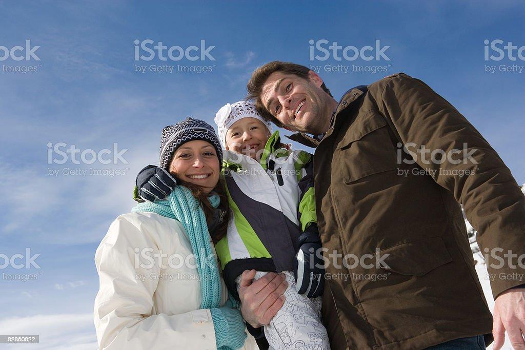 Ritratto di una famiglia foto stock royalty-free